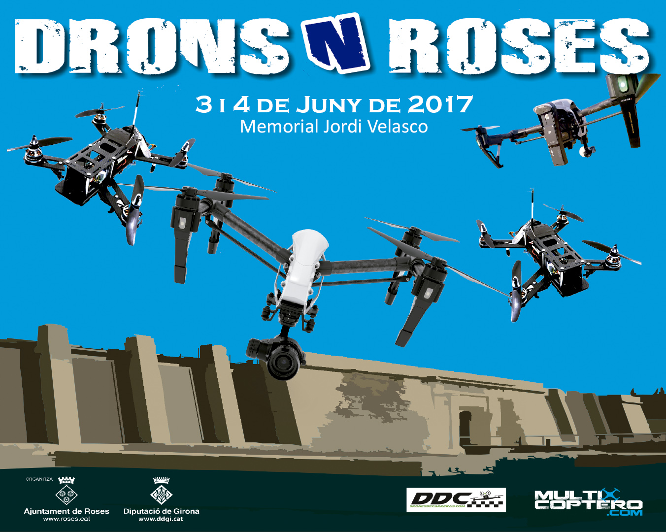 Drons N Roses 2017 cartell